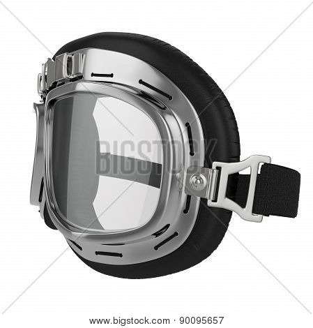 Leather race goggles