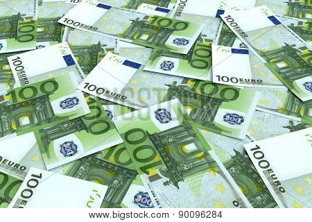 Money Background From Euro