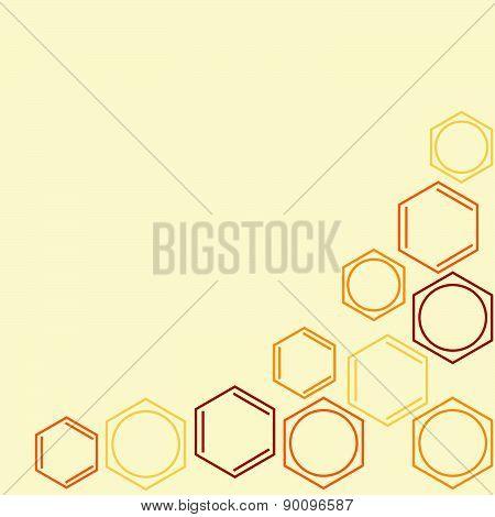 Molecule benzene vector frame