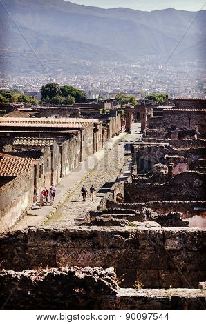 View The Ancient City Of Pompeii