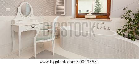 White Spacious Bathroom
