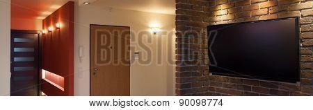 Television In Hallway