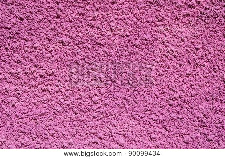 Pink Decorative Relief Plaster On Wall
