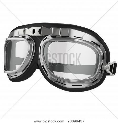 Vintage aviation bike goggles
