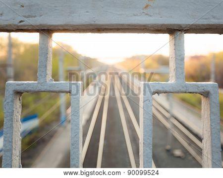Railroad going over the horizon