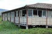 pic of marshes  - A wood building built on a marsh on Lake San Pablo - JPG
