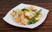 picture of iceberg  - Shrimp salad with beans and iceberg salad - JPG