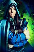 stock photo of fairy  - Noble fairy elf in the magic forest - JPG