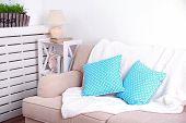 pic of comfort  - Modern room with comfortable sofa - JPG