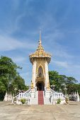 foto of crematory  - Crematory with sky background at Wat kwid - JPG