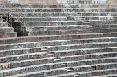 foto of arena  - ancient Roman STEPS in the Arena di Verona in Italy made with limestone - JPG