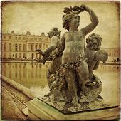 image of versaille  - Royal Garden in the Versailles Castle in vintage style Paris France Unesco - JPG