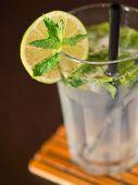 stock photo of mojito  - Mojito cocktail on a bar counter - JPG
