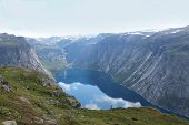 stock photo of eminent  - Beautiful landscape of Norway - JPG