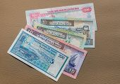 foto of dirhams  - Currency from Gulf countries  - JPG