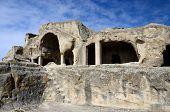 pic of cluster  - Cave cluster ruins in Uplistsikhe - JPG