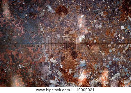 Rusty metal sheet texture