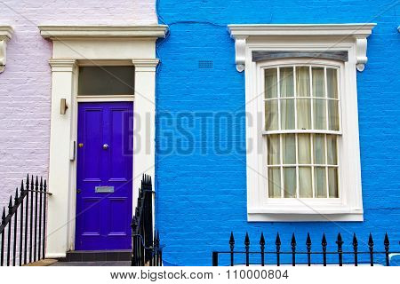 Notting Hill In London   Suburban     Wall Door