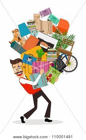 Man moving illustration
