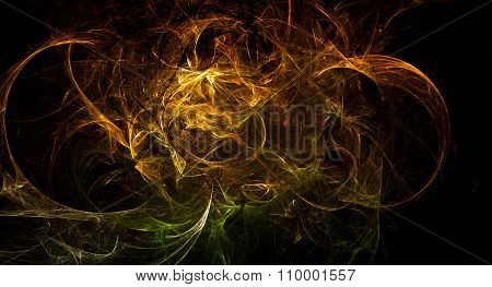 Cosmic Explosion Fireball Flame Texture Background Design