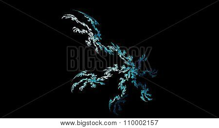Abstract Ice Crystals Illustration On Black Background