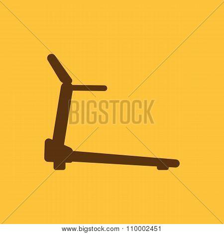 Cross trainer machine icon. Running symbol