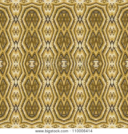 Tribal Golden Seamless Pattern