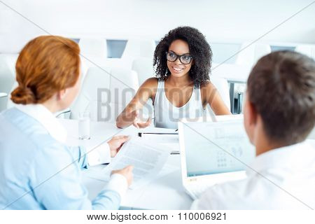 Concept for interview or business meeting