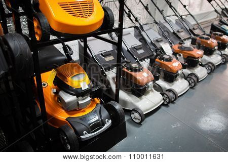 Showcase Of  The Lawn Mower In Store