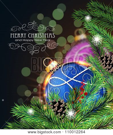 Blue And Purple Christmas Decorations