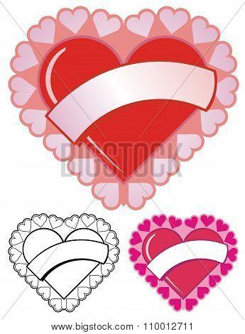 Valentine Heart With Banner