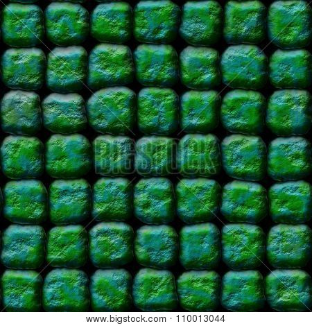 Decorative green-blue stones of different shapes - pattern