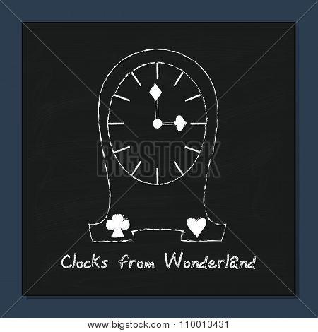 Clocks from Alice Adventures in Wonderland