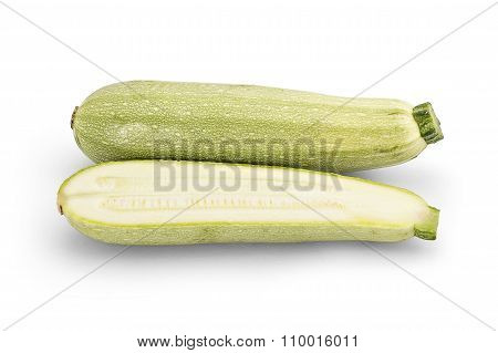 Young fresh courgettes