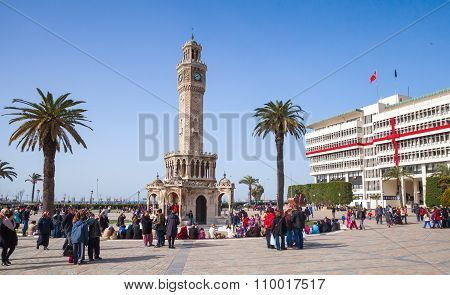 Turkey, Clock Tower, Symbol Of Izmir City