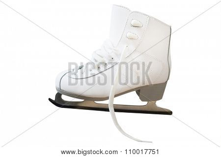 White skate isolated on white background