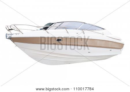 The image of boat in a Kotor  bay, Montenegro