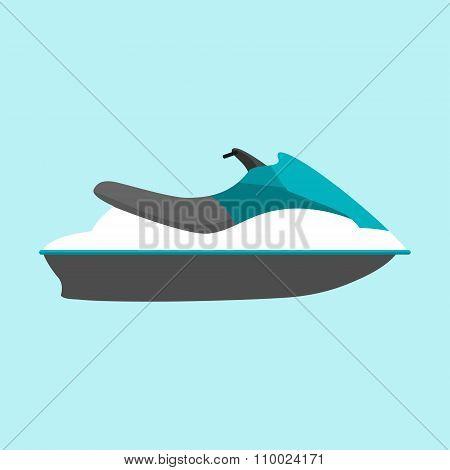 Water jetski vector