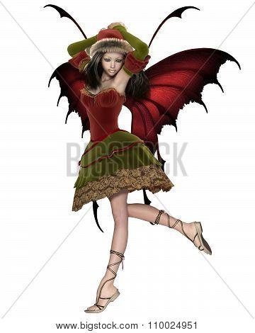 Christmas Fairy Elf Girl