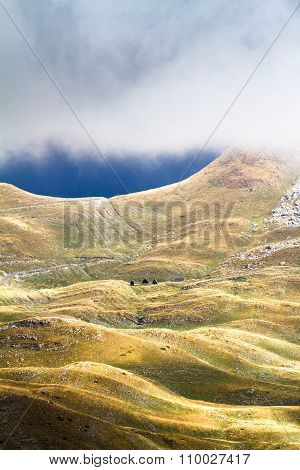 Mountains In Autumn. National Nature Park