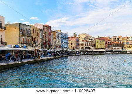 Old Venetian Harbor Of Chania