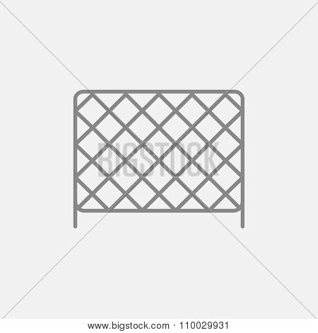 Sports nets line icon for web, mobile and infographics. Vector dark grey icon isolated on light grey background.