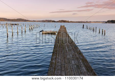 Last Boat On The Pier