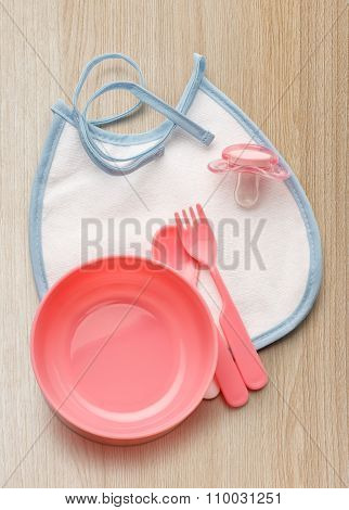 Bibs, Bowl And Spoon