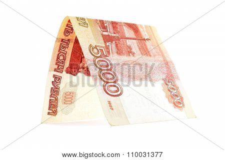 Russian Ruble Banknote Office, Rouble Portal Isolated On White Background