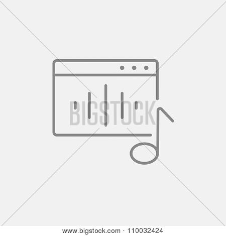 Radio line icon for web, mobile and infographics. Vector dark grey icon isolated on light grey background.