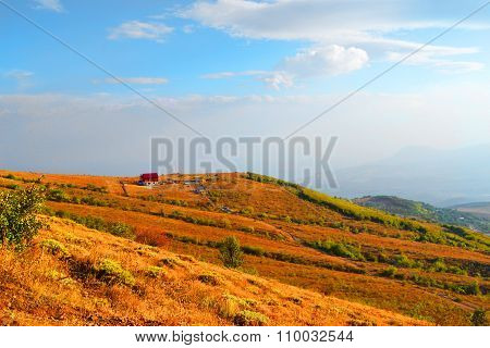 Farm in mountains