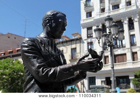 Monument to Federico García Lorca in Madrid