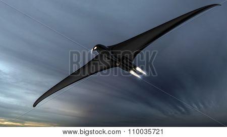 Scary Futuristic Hawk Or Eagle Shaped Drone