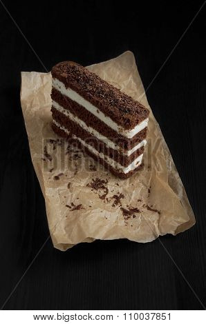 Chocolate Cake On A Parchment